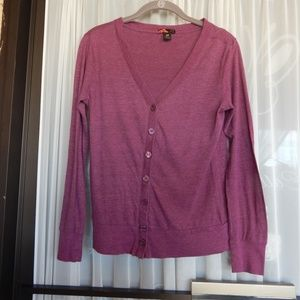 Rue 21 Button up Cardigan Maroon Size M